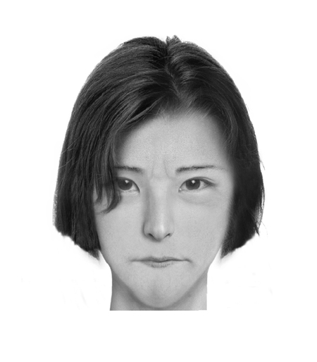Aomame, 1Q84, Haruki Murakami 5'6…Not once ounce of excess fat…The left ear much bigger than the right, and malformed, but her hair always covers her ears…Lips formed a tight straight line…Small narrow nose, somewhat protruding cheekbones, broad forehead, and long, straight eyebrows…[Face is a] Pleasing oval shape…Extreme paucity of expression. (Suggested by goya-galileo-vangogh )